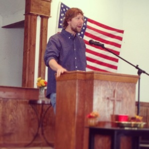Preaching at Pine Hill Church